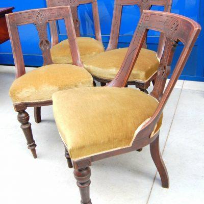 4 sedie gondoline 800 Napoleone III 192962568321