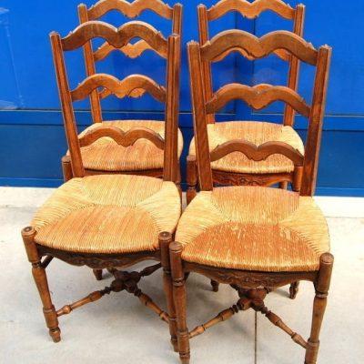 4 sedie provenzali arlesine fine 800 traversine tornite ad incrocio seduta i 193162879831 2