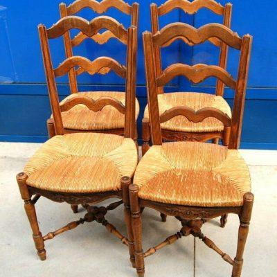 4 sedie provenzali arlesine fine 800 traversine tornite ad incrocio seduta i 193162879831
