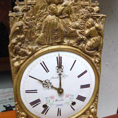 Quadrante di orologio a pendolo in ottone sbalzato con scena romantica contad 203025575462
