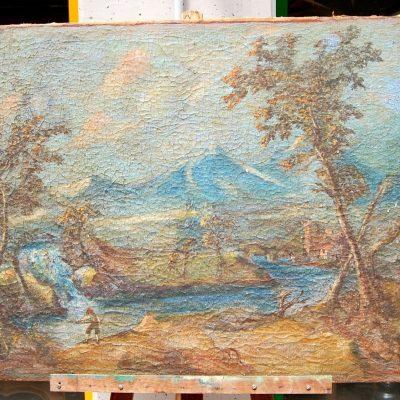 Sovrapporta seconda met del 700 olio su tela reintelata 87 x 69 cm 193244185462 3