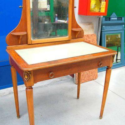Piccola toilette in stile Luigi XVI piano in vetro e specchio con mensoline f 203003921963