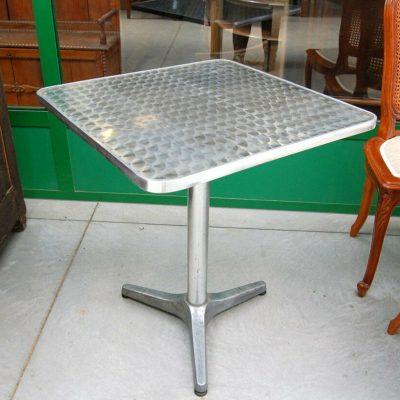 Tavolino da bistrot da esterno in alluminio quadrato lato 60 cm piano decor 192897493703