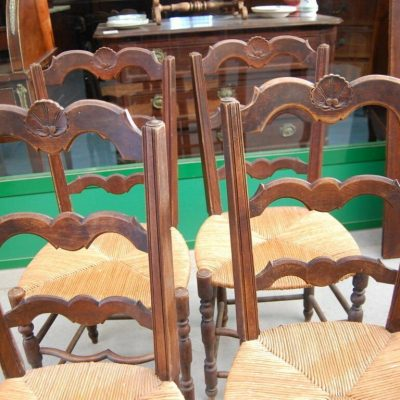 4 sedie in faggio prima met del 900 seduta in paglia 192906740324 2