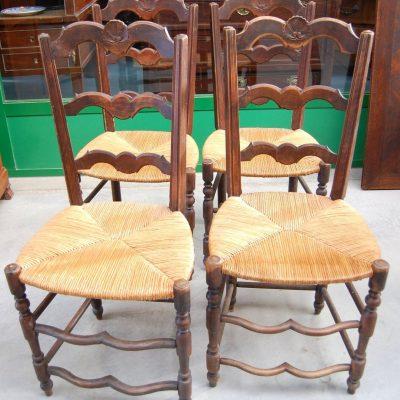 4 sedie in faggio prima met del 900 seduta in paglia 192906740324