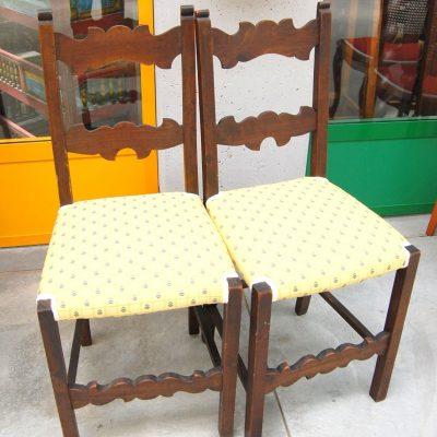 Coppia di sedie in faggio primo 900 schienale decorato SPEDIZIONE GRATUITA 192964101494 2