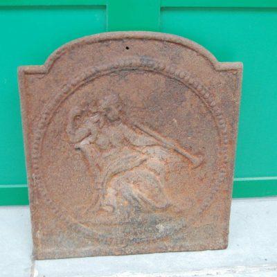 Piccola piastra da camino in ghisa Carlo X 29x32 cm 192392055204 2