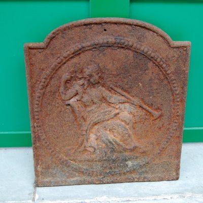 Piccola piastra da camino in ghisa Carlo X 29x32 cm 192392055204