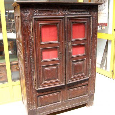 Piccolo armadio vetrina bretone fine 700 in rovere massello h 171 cm 193244261864 3