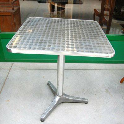 Tavolino da bistrot quadrato in alluminio piano decorato lato 60 h 715 cm SP 192897494204 2