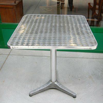 Tavolino da bistrot quadrato in alluminio piano decorato lato 60 h 715 cm SP 192897494204