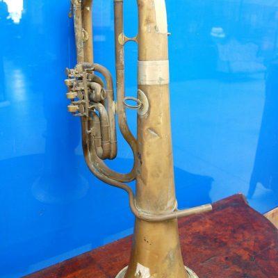Flicorno basso in ottone fine 800 32 x 73 cm 192581892275
