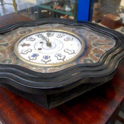 Orologio occhio di bue Napoleone Terzo 800 chinato con intarsi in madreperla 192207173025 3