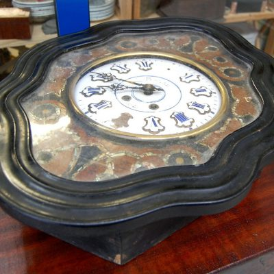 Orologio occhio di bue Napoleone Terzo 800 chinato con intarsi in madreperla 192207173025