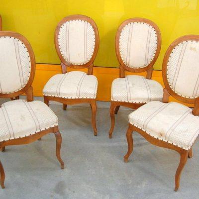 4 sedie con schienale a medaglione noce Luigi Filippo Piemonte 800 203008244166 2