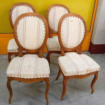 4 sedie con schienale a medaglione noce Luigi Filippo Piemonte 800 203008244166