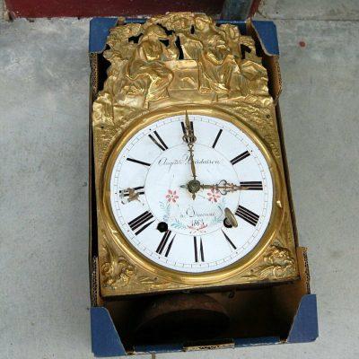 Meccanismo di orologio morbier 800 in ottone sbalzato lungo 42 cm SPEDIZIONE 202873935726