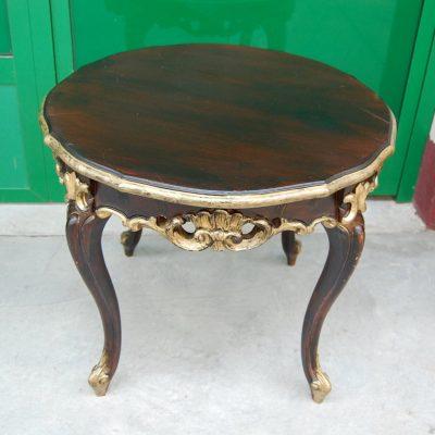 Tavolino laccato rifinito con dorature diametro 60 cm SPEDIZIONE GRATUITA 192994370696 3