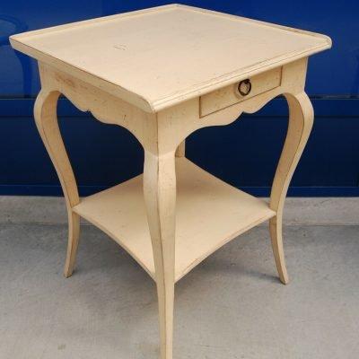 Tavolino quadrato con secondo ripiano laccato lato 51 cm h 72 cm INVIO GRATUITO 202981452876
