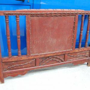 Testiera testata di letto indiano scolpito e laccato lungo 151 cm SPEDIZION 202424264476