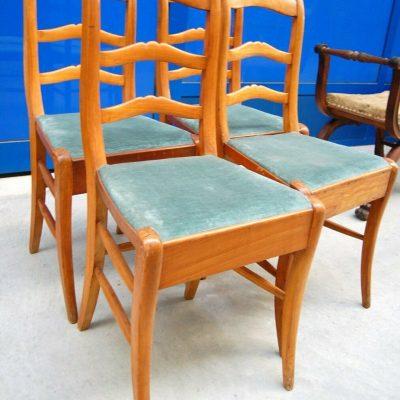 4 sedie Luigi Filippo in ciliegio massello met 800 202866353357