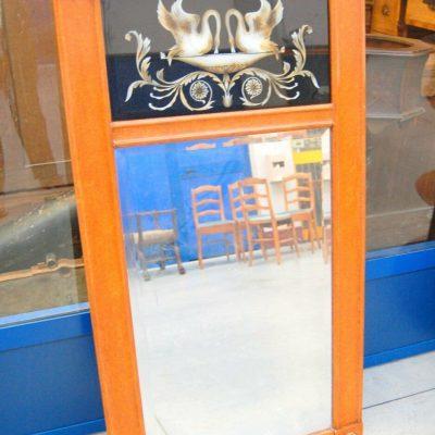 Specchio met 900 h 125 in stile Impero decorato con cigni 193282914877