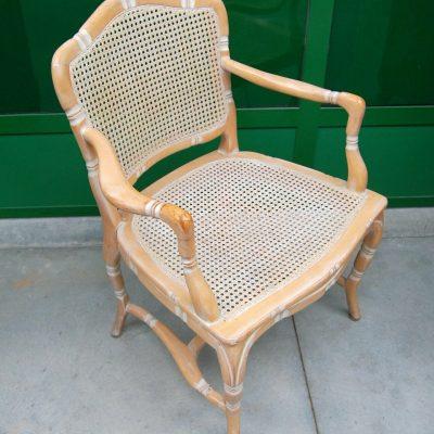 Poltrona capotavola poltroncina laccata con seduta e schienale in paglia di 202845611098