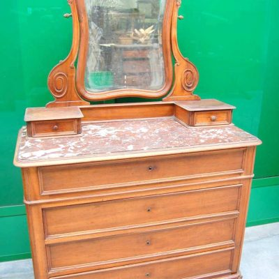 Com rocaille 800 con specchio scolpito e piano in marmo di Verona fronte 11 193486734059 2