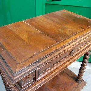Consolle in stile Luigi XIII 800 con colonnine tornite e cassetto fronte 97 cm 202293659749 2