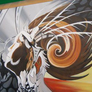 Dipinto quadro contemporanea tecnica mista acrilico e olio su tela firma Gia 192257845809 2