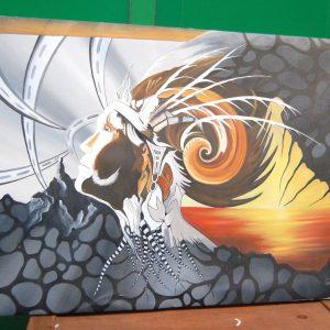 Dipinto quadro contemporanea tecnica mista acrilico e olio su tela firma Gia 192257845809