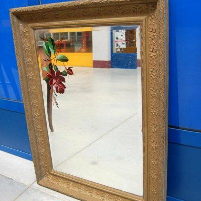Piccolo specchio fine 800 in legno e stucco decorato 69 cm x 90 cm 202746559219 2