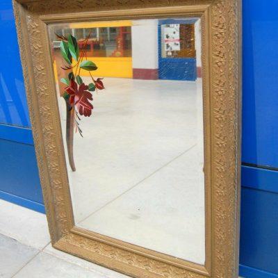 Piccolo specchio fine 800 in legno e stucco decorato 69 cm x 90 cm 202746559219