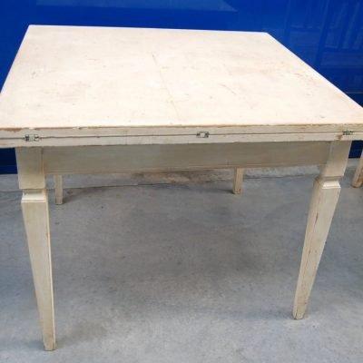 Tavolo a libro vintage 900 laccato piano quadrato lato 100 cm raddoppiabile 202947155619 3